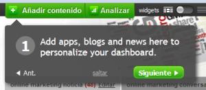 1. Añade apps, blogs y noticias