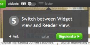 Widgets o reader