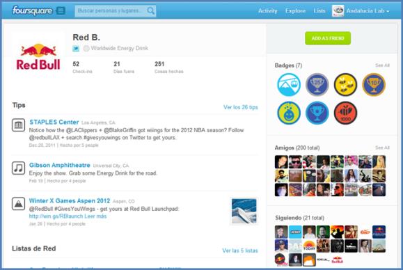 Specials o promociones en Foursquare