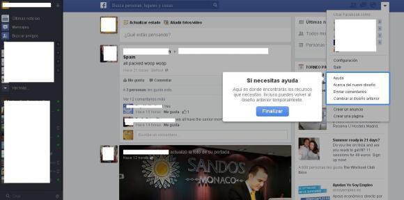 Ayuda nuevo diseño facebook