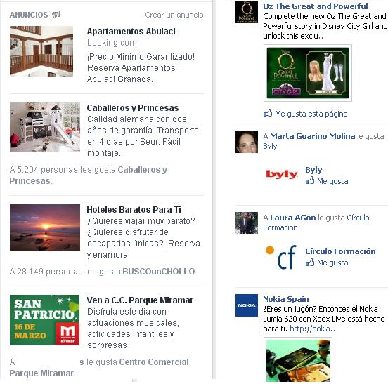 publicidad nuevo diseño de facebook anuncios ads