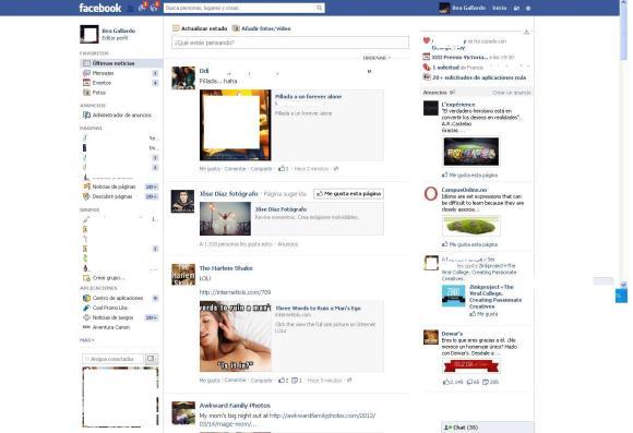 Nuevo vs viejo diseño facebook