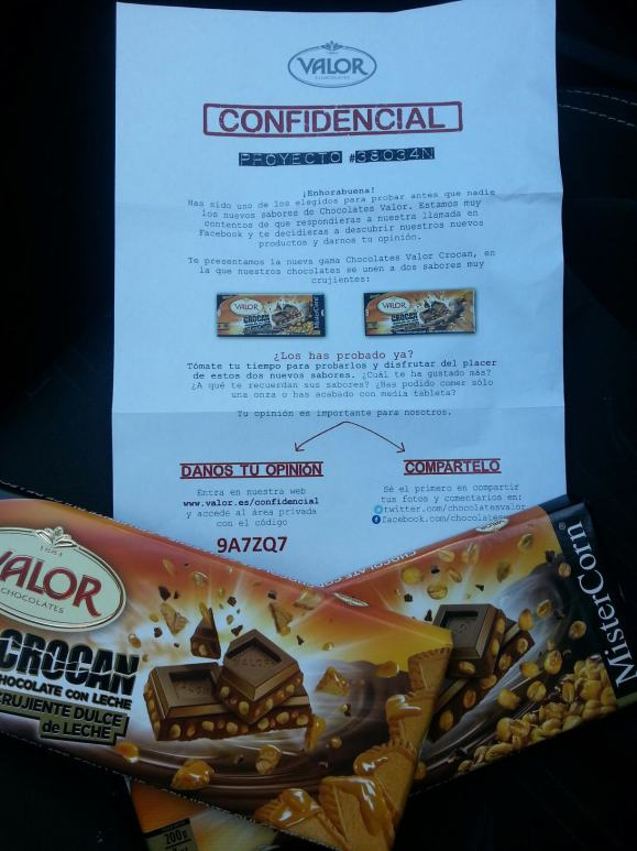 Campaña marketing Chocolates Valor