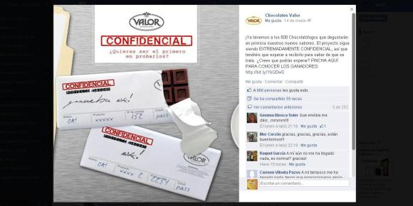 Estrategia marketing chocolates valor